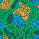 Colorful topographic contour map seamless Stock Photography