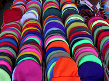 Colorful toque hats Royalty Free Stock Image