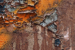 Colorful torn old posters  as abstract colorful textured backgro Royalty Free Stock Photo