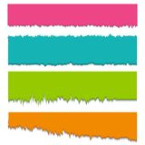 Colorful Torn Ripped Paper Royalty Free Stock Photos