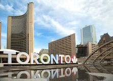 Colorful Toronto sign in Toronto, Canada Royalty Free Stock Image