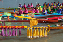 Colorful total longtailboat . Royalty Free Stock Photos