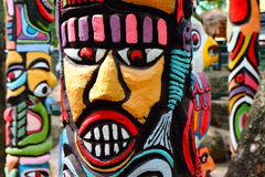 A colorful of totem . Stock Photography