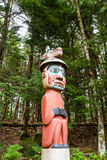 Colorful Totem in Forest Royalty Free Stock Photos