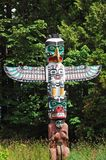 Colorful totem pole stock photos