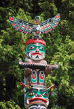 Colorful totem pole Royalty Free Stock Image