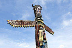 A colorful totem pole Royalty Free Stock Photography