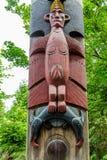Colorful Totem Pole Details Stock Images