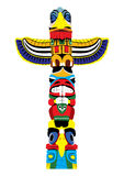 Colorful totem pole. Vector EPS10. stock illustration