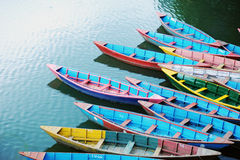 Colorful tour boats Royalty Free Stock Images