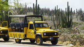 Colorful tour bus in Aruba Royalty Free Stock Photos