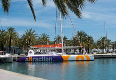 Colorful tourboat from Attraction Royalty Free Stock Photography