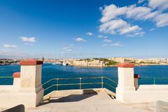 Port in Msida on Malta. Colorful touristic landscape of Port in Msida on Malta island. Beautiful seascape in south Europe Royalty Free Stock Photos