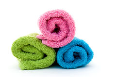 Colorful towel rolls Royalty Free Stock Image