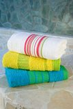 Colorful towel set Stock Photography