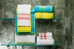 Colorful towel set Royalty Free Stock Image