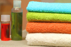 Colorful towels Stock Images