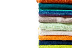Colorful towels Stock Photos