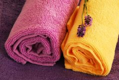 Colorful towels Stock Image