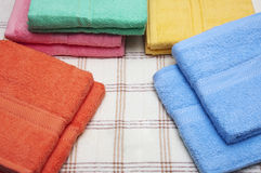 Colorful Towels. Soft colorful cotton rolled towels Royalty Free Stock Photo
