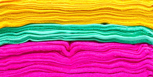 Colorful towels. Royalty Free Stock Photography