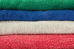 Colorful Towels. Different  color of towels,red,green,white,blue Royalty Free Stock Image