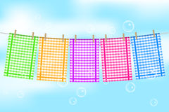 Colorful towels Royalty Free Stock Photos