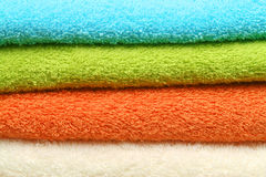 Colorful towels background Stock Image