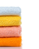 Colorful towels isolated Royalty Free Stock Image