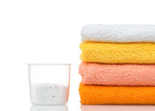 Colorful towels isolated Stock Photos