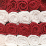 Colorful towels pattern Stock Photo