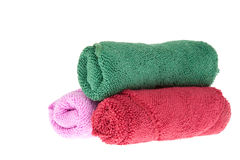 Colorful towels rolls Royalty Free Stock Image
