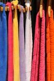 Colorful towels on sale. Frame filling capture of colorful towels on sale Royalty Free Stock Image