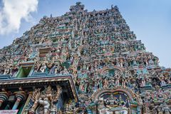Colorful tower of Meenakshi Amman Temple Stock Photography