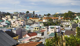 Colorful Town of DaLat. The colorful buildings in the town of DaLat in the central highlands of Vietnam Stock Photo