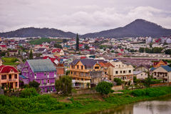 Colorful town of Dalat Royalty Free Stock Photos