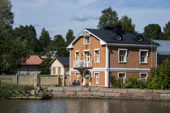 Colorful town in Finland Stock Photo