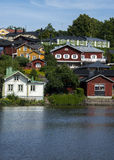 Colorful town in Finland Royalty Free Stock Images