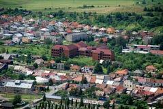 Colorful town of Spišské Podhradie, Slovakia.  stock photography