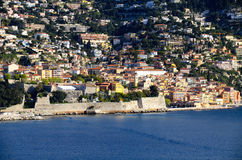 The Colorful Town of Villefranche, France Royalty Free Stock Image