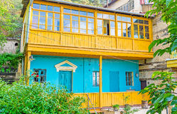 The colorful townhouse in old Tbilisi Stock Image