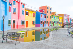 Colorful townhouse Royalty Free Stock Images