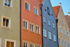 Colorful townhouse row Royalty Free Stock Images