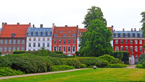 Colorful townhouses of Copenhagen, Denmark Royalty Free Stock Image