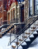 Colorful townhouses in Montreal Royalty Free Stock Photos