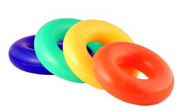 Colorful toy. Isolated on pure white royalty free stock photography