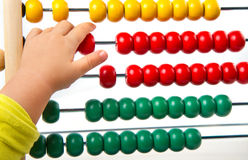 Colorful toy abacus Royalty Free Stock Photo