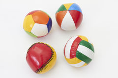 Colorful toy balls Royalty Free Stock Images