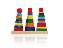 Colorful Toy Blocks Royalty Free Stock Photos