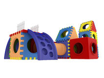Colorful toy blocks Royalty Free Stock Photo
